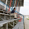 Lyndon in the bleachers